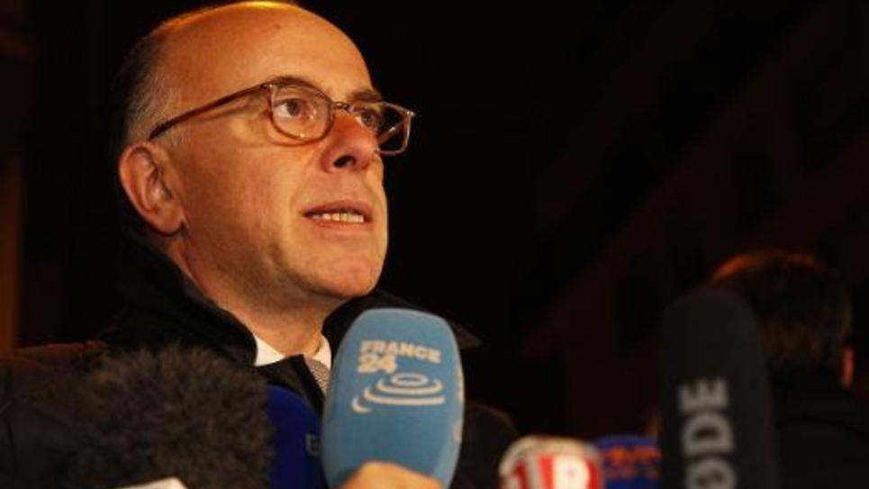 Le ministre de l'Intérieur, Bernard Cazeneuve, le 7 janvier 2015