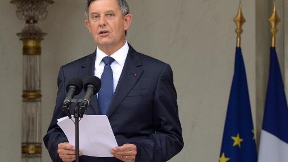 Le secrétaire général de l'Elysée Jean-Pierre Jouyet le 26 août 2014, sur le perron du palais présidentiel