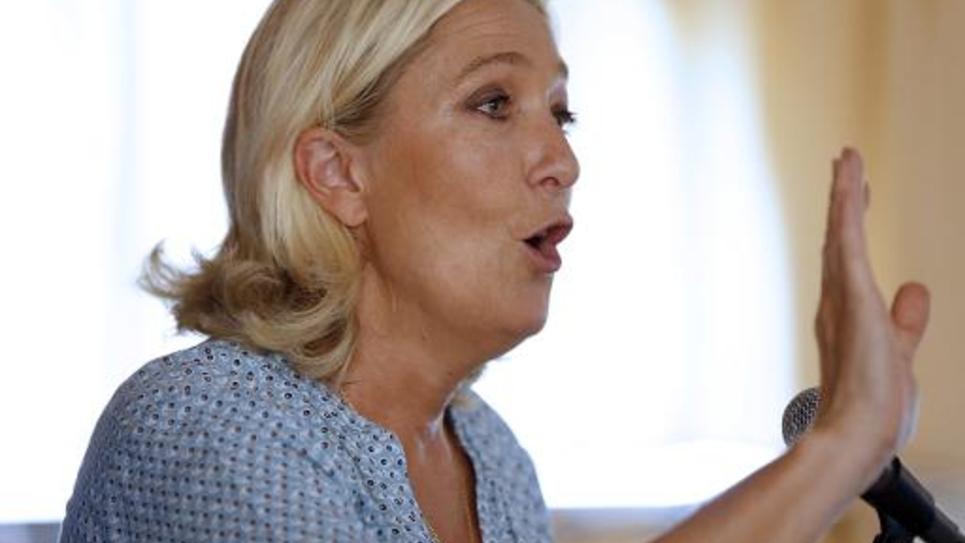 Marine Le Pen le 7 septembre 2014 à Fréjus