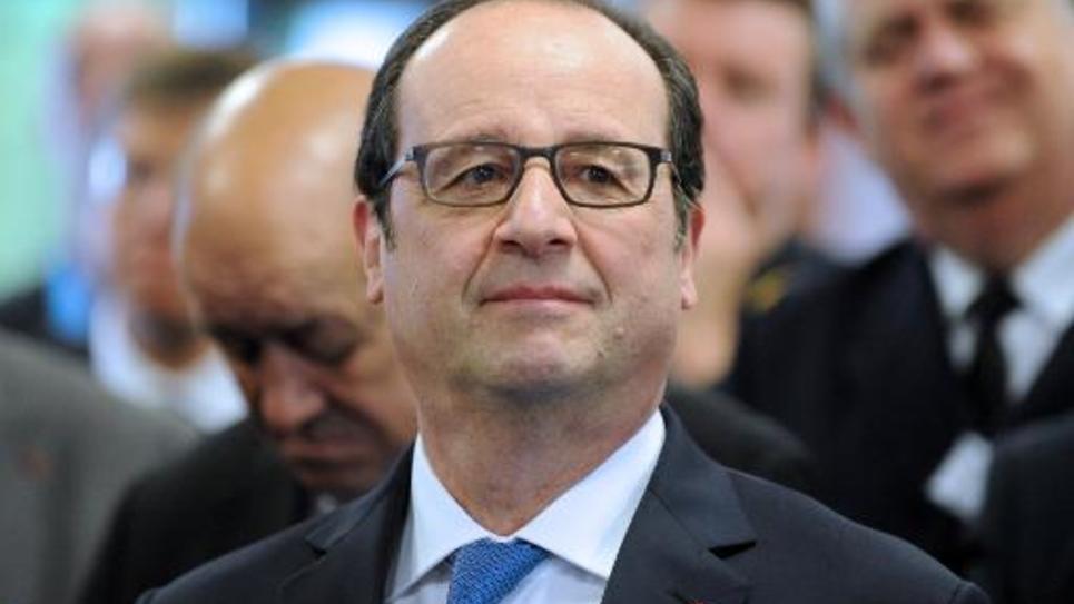 Le président François Hollande le 30 avril 2015 à Brest