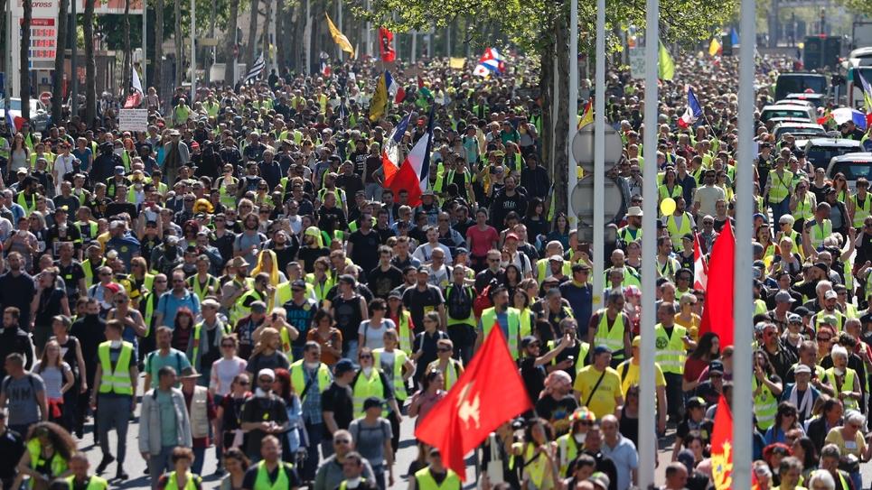 """Rassemblement de """"gilets jaunes"""", le 20 avril 2019 à Paris"""
