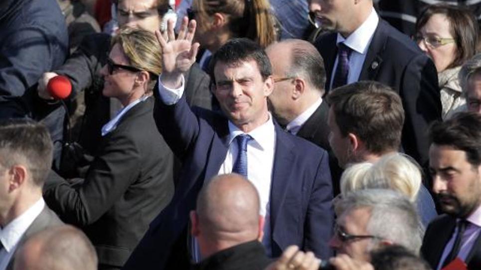 Manuel Valls le 16 mai  2014 à Ouistreham