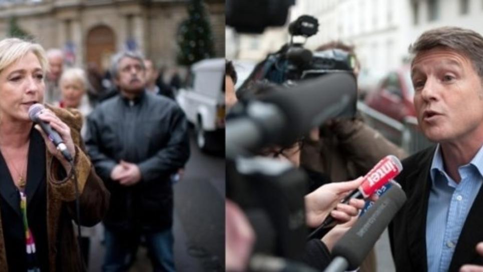 Marine Le Pen et Vincent Peillon