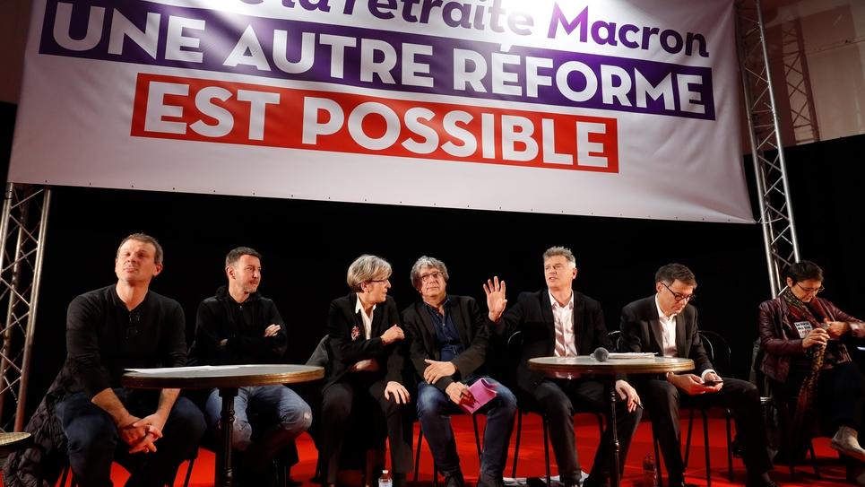 La gauche rassemblée contre la réforme des retraites