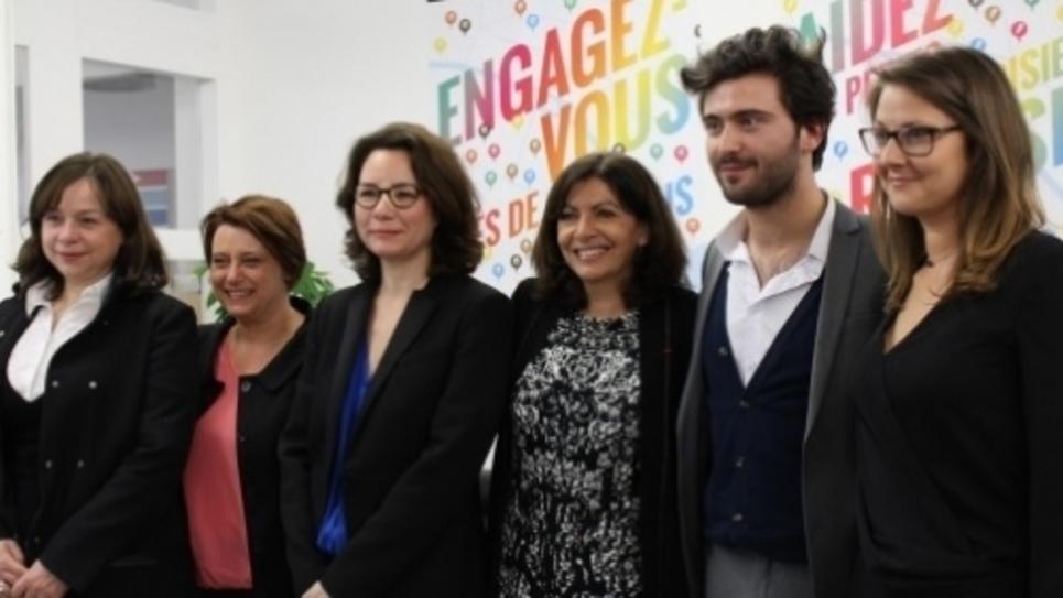 Lancement officiel de la nouvelle plateforme d'entraide citoyenne, jemengage.paris.fr en présence de la Maire de Paris Anne Hidalgo