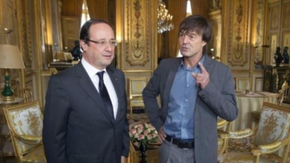 Nicolas Hulot et François Hollande