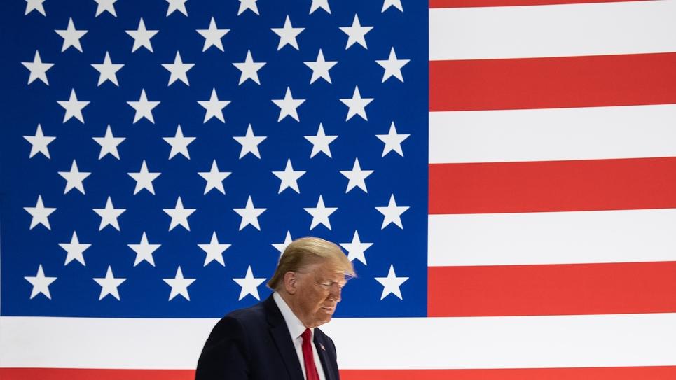 Trump drapeau américain