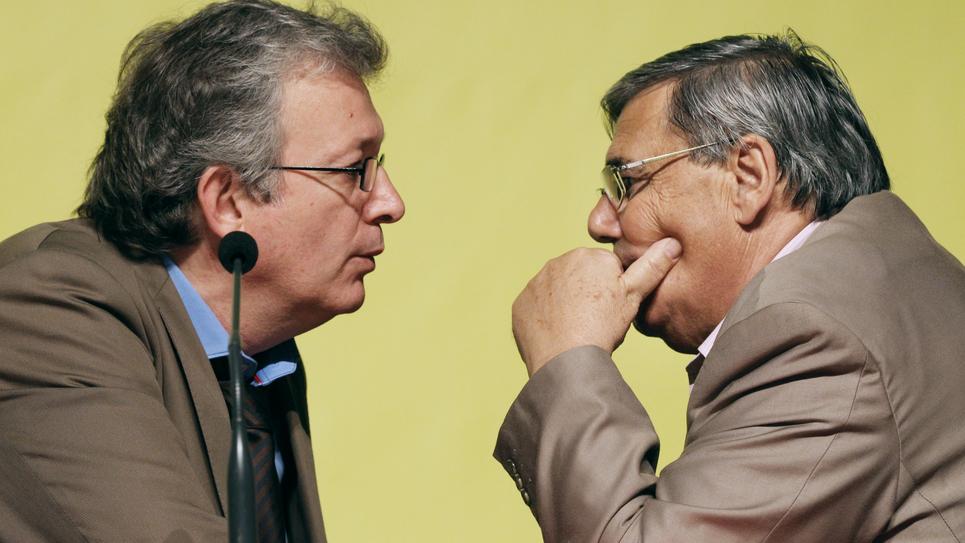 Jean-Charles Nègre et Pierre Laurent AFP