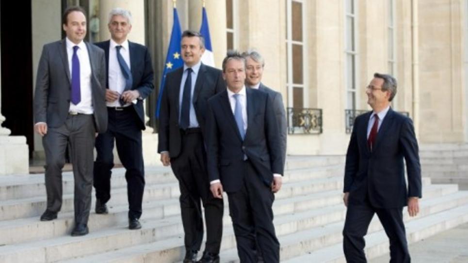 Jean-Christophe Lagarde, Herve Morin, Yves Jego, Philippe Vigier, Laurent Henart, Jean Christophe Fromantin, en mai 2014