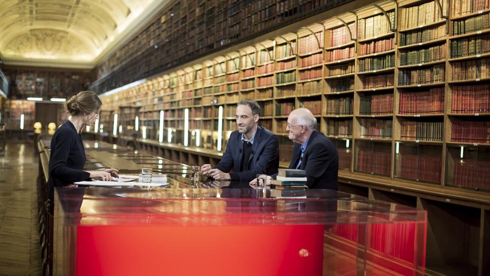 Marcel Gauchet et Raphaël Glucksmann sur le plateau de Livres & vous