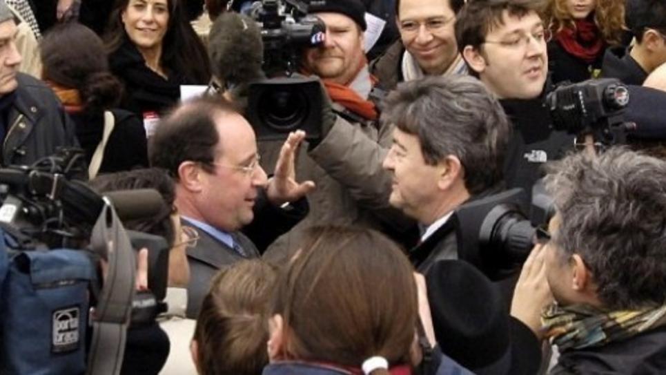 M 233 Lenchon Pousse Hollande Sur Sa Gauche Public Senat