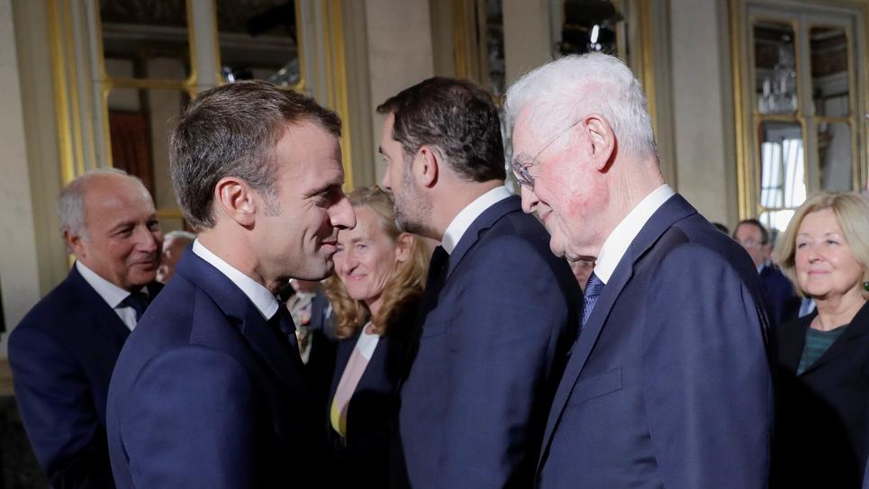 Emmanuel Macron et Lionel Jospin