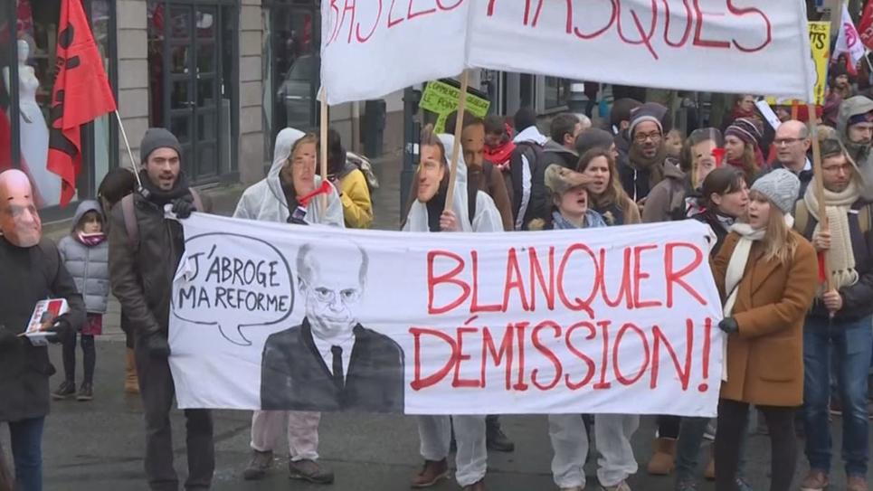 Manifestation à Rennes contre la réforme des retraites