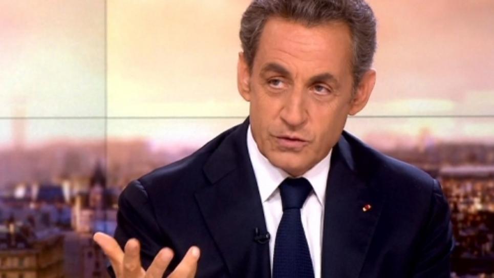 Nicolas Sarkozy, candidat à la présidence de l'UMP