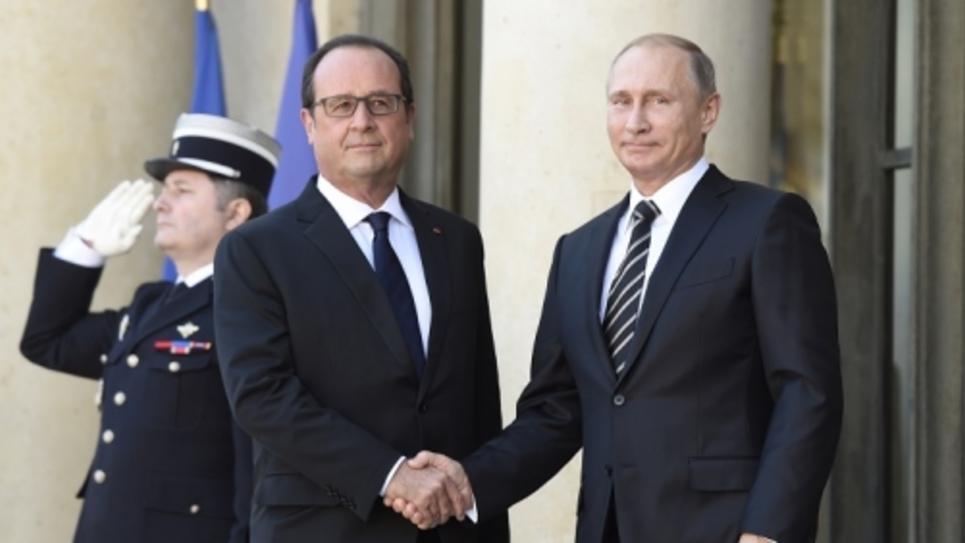 rencontre Poutine Hollande à l'Elysée octobre 2015
