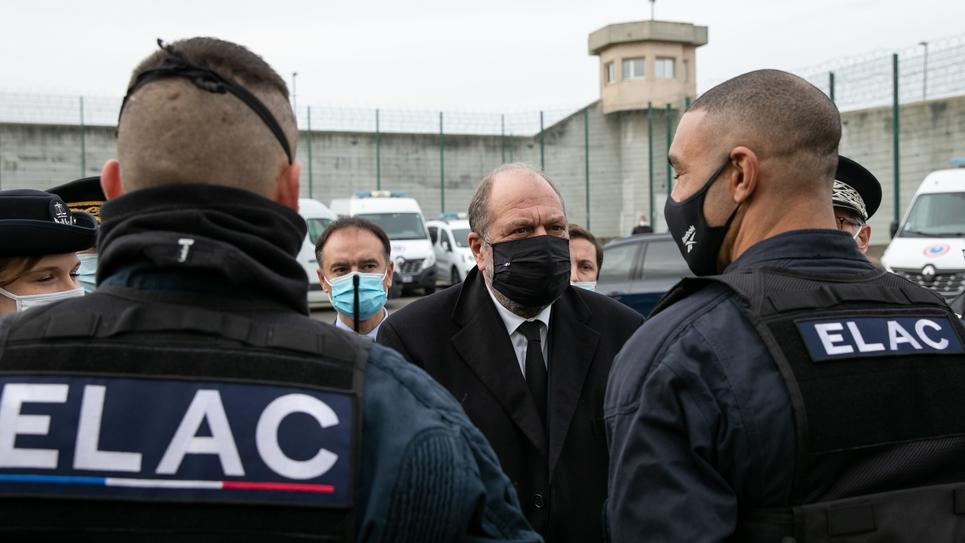 OSNY: Visite de Eric Dupond Moretti Ministre de la Justice a la maison d'arret du Val d'Oise