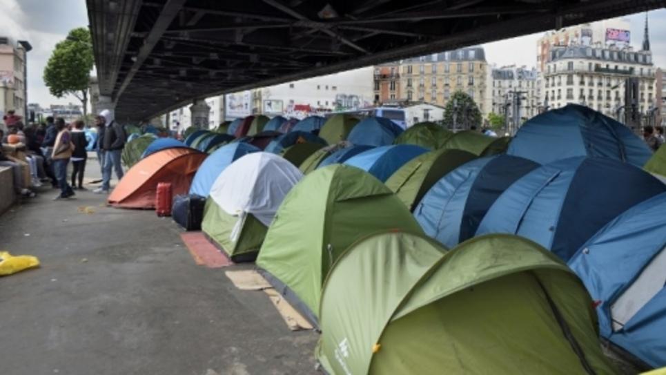 Campement de réfugiés du boulevard de La Chapelle