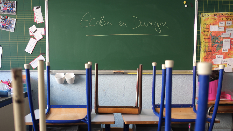 salle de classe école Jean Perrin de Marseille février 2016