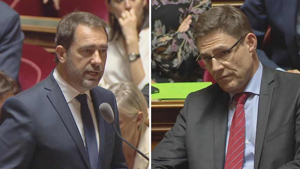 Christophe Castaner et Philippe Dallier, au Sénat, le 17 octobre 2018