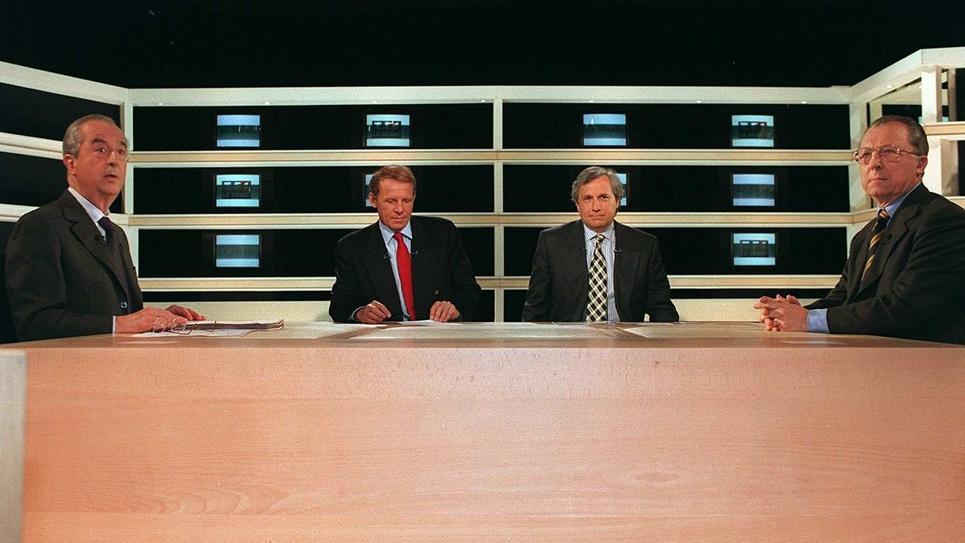 Un débat entre Edouard Balladur et Jacques Delors en 1997 sur TF1