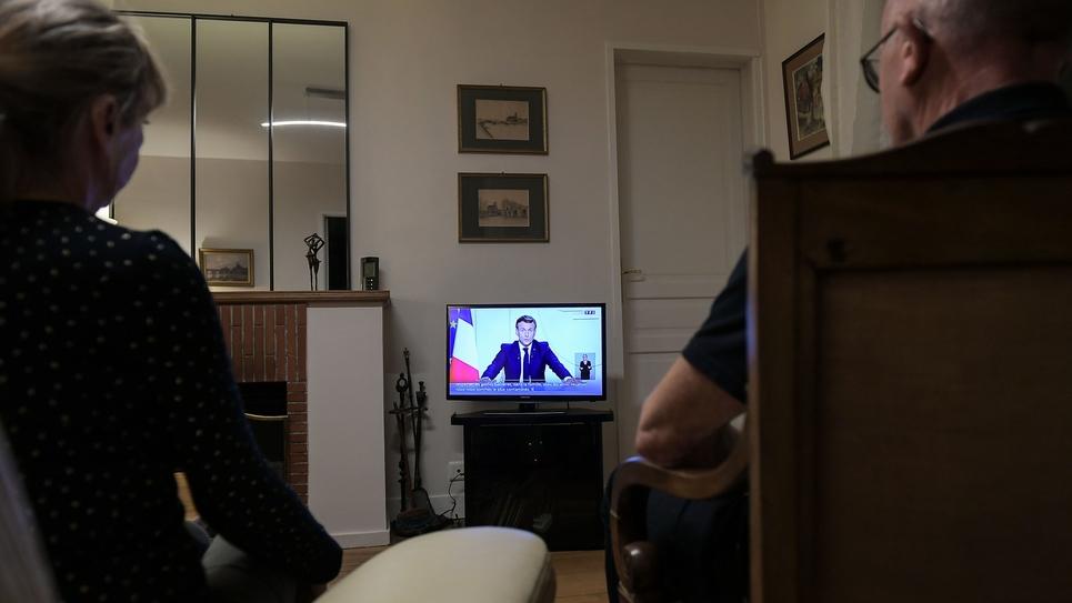 Paris: E. Macron allocution Covid19
