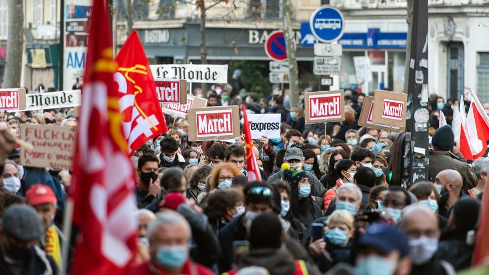 Paris Marche des libertes contre les lois liberticides