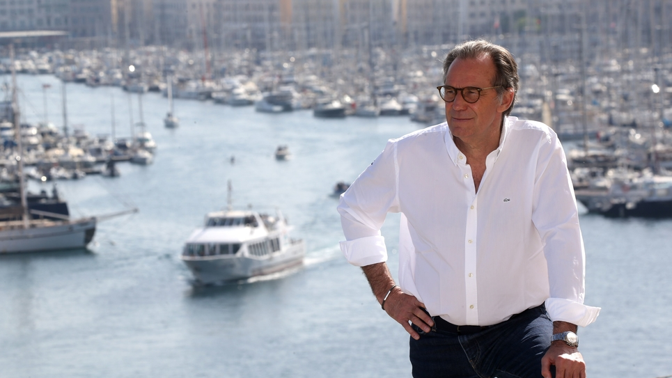 Renaud Muselier in Marseille during the regional elections campaign