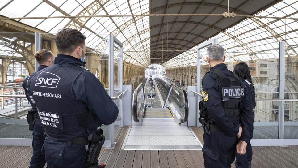 SNCF Police controle Surete Ferroviaire et Police Aux Frontieres