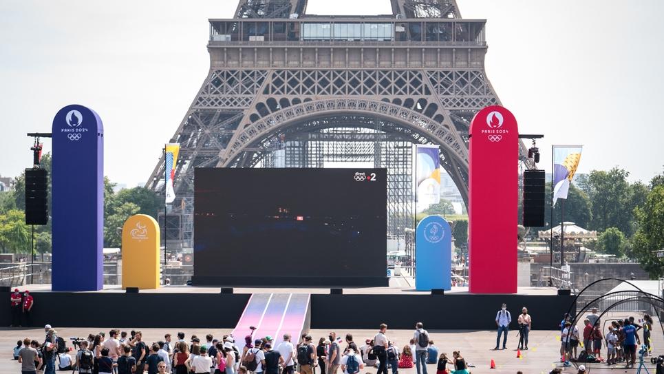 Paris : Inauguration de la Fan Zone pour les JO
