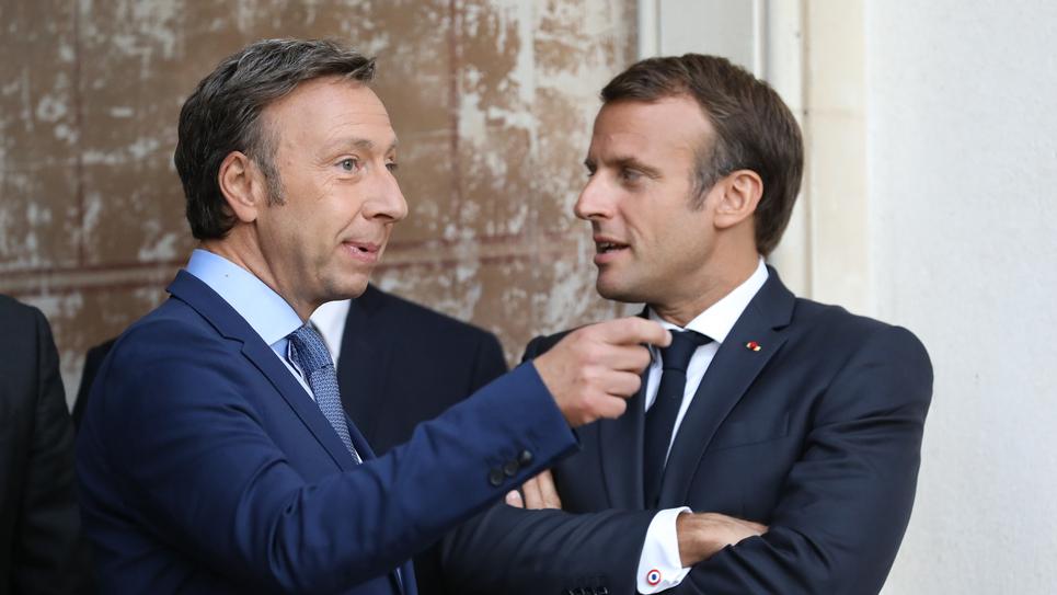 Stephane Bern et Emmanuel Macron