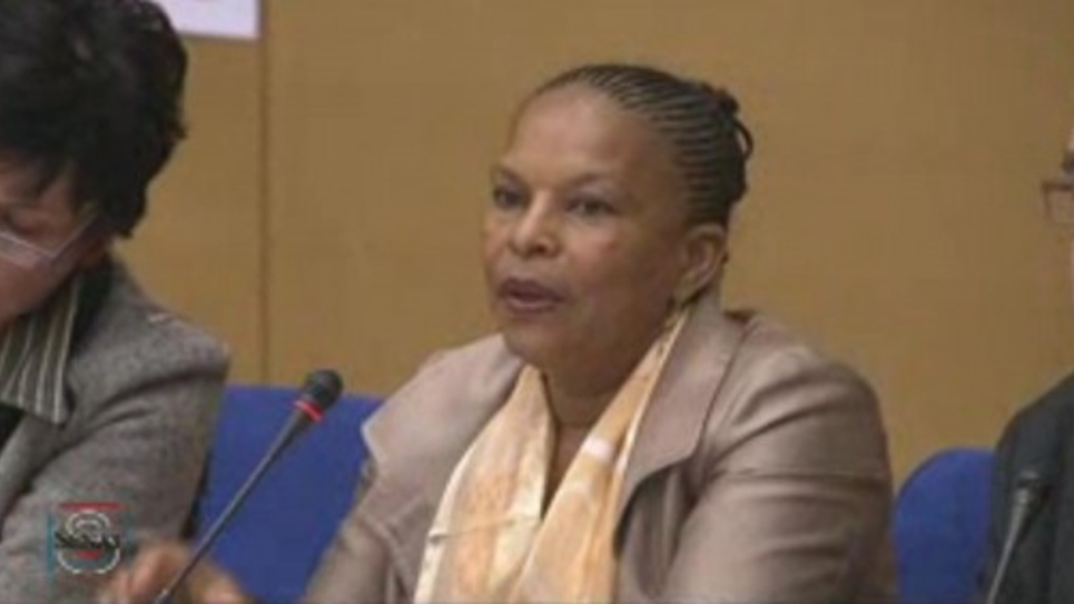 Christiane Taubira auditionnée au Sénat