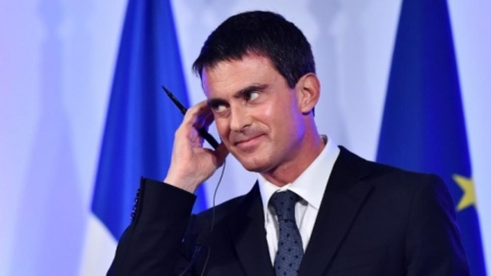 Manuel Valls, lundi à Londres. (Ben Stansall, AFP)