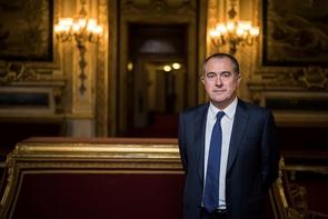 Le président du groupe PS au Sénat, Didier Guillaume, à Paris le 15 novembre 2016