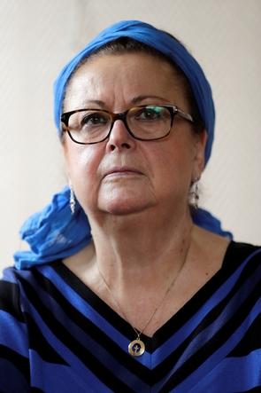 La présidente d'honneur du Parti chrétien-démocrate (PCD) Christine Boutin, le 21 octobre 2017 à Rambouillet en région parisienne
