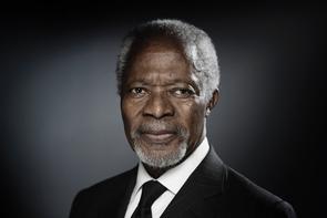 Kofi Annan, l'ancien secrétaire général de l'ONU, prix nobel de la paix, à Paris le 11 décembre 2017
