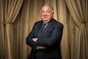 Le président sortant de la Haute Assemblée, Gérard Larcher (LR), qui devrait se succéder à lui-même, le 17 novembre 2016 à Paris