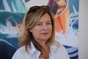 L'ex-compagne de François Hollande, la journaliste Valérie Trierweiler, le 6 juillet 2016 à La Rochelle