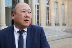 Le député LREM de Paris Buon Tan à l'Elysée, le 16 février 2018