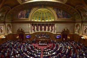 Les sénateurs réunis dans leur hémicycle, à Paris, le 2 octobre 2017