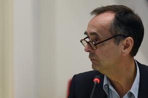 Le maire de Béziers Robert Ménard le 18 octobre 2016 à Béziers