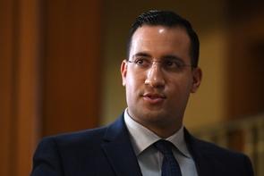 Alexandre Benalla après son audition devant la commission d'enquête du Sénat, le 21 janvier 2019