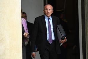 Le ministre de l'Intérieur Gérard Collomb le 9 août 2017 à l'Élysée