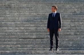 Le président Emmanuel Macron le 22 août 2019 à Chantilly