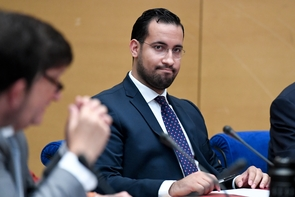 Alexandre Benalla lors de son audition devant le Senat, à Paris, le 19 septembre 2018