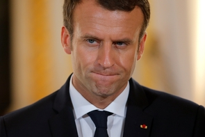 Le président français Emmanuel Macron lors d'un point presse à Paris le 16 juillet 2017