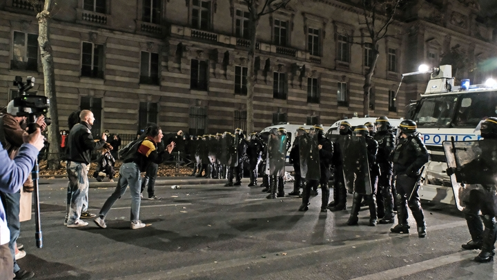 Paris Manifestation contre la proposition de loi sur la securite globale