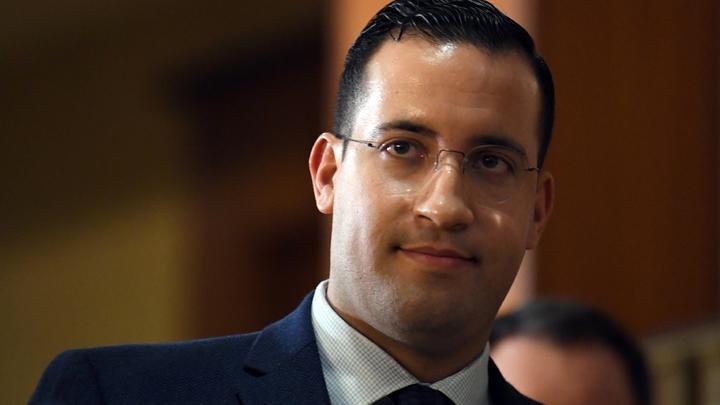 Alexandre Benalla avant son audition par la commission sénatoriale, le 21 janvier 2019 à Paris
