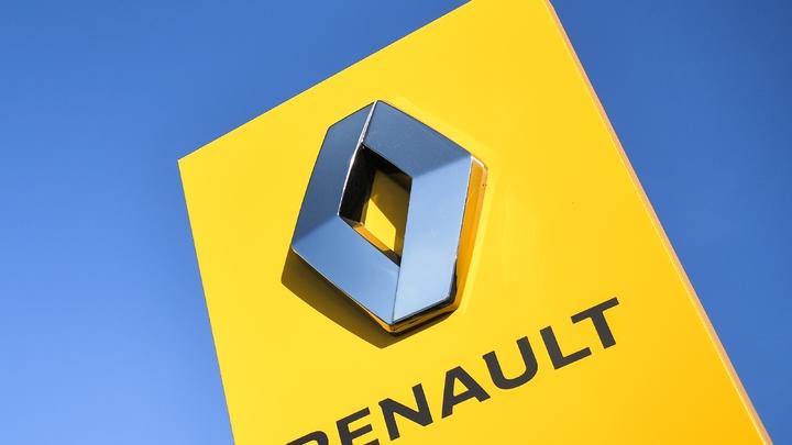 Le logo du constructeur automobile français Renault prise le 8 juillet 2019
