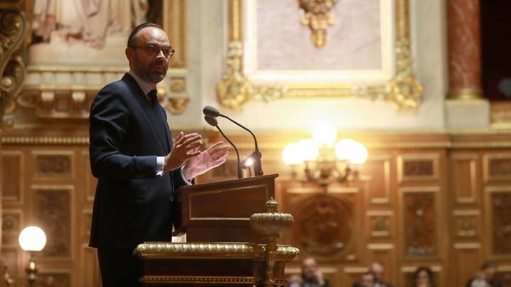 Le Premier ministre Edouard Philippe devant le Sénat, le 6 décembre 2018 à Paris