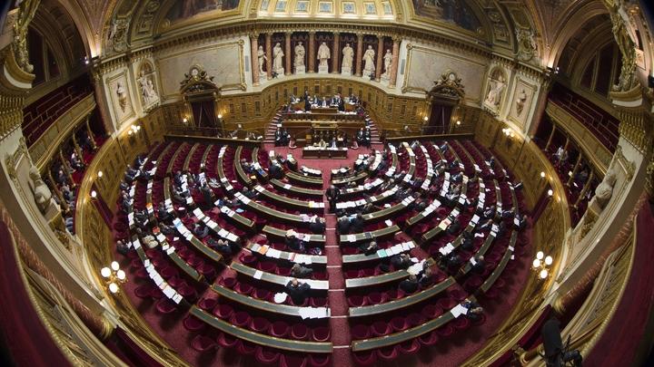 Vue de l'hémicycle du Sénat